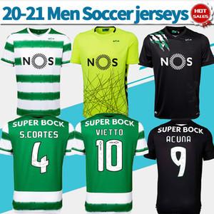 Sporting CP futbol # 29 PHELLYPE uzakta forması 20/21 Lizbon ev yeşil futbol gömlek siyah özelleştirilmiş Futbol üniforma