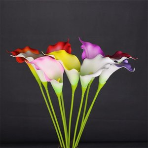 """Fake Single Stem Calla 29.13"""" Length Simulation Real Touch Alocasia Lily for Wedding Home Decorative Artificial Flowers"""