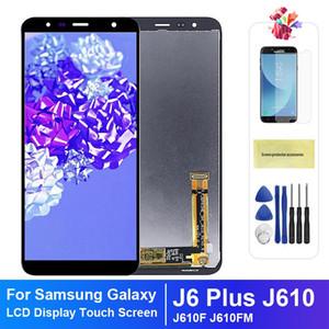 Samsung J6 Artı gösterge ekranı için Samsung Galaxy J6 Artı J610 J610F J610FN Ekran LCD Ekran değişimi için 6.0 inç LCD