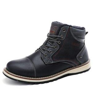 Männer Größe # 39-46 add Beflockung Stiefel hoch für Outdoor-Sport-Freizeit-Stiefel warme und bequeme Herrenschuhe zu halten