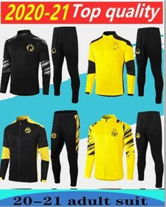 2020 Kinder Trainingsjacke Set Men Kit lange Hülse 20/21 Trainingsanzughose Fußball Borussia Reus Kleidung Sport