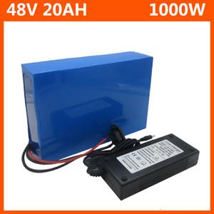 bateria de 48V 1000W bateria 48V 20.8AH bicicleta elétrica 48V 20AH lítio bateria de iões com PVC Caso 30A BMS 54.6V 2A charger