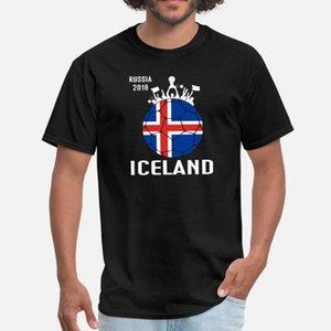 Fa Futebol Copa do Mundo Islândia Soccer Jersey camisetas Homens Criar Cotton O pescoço de base sólida bonito Confortável Verão Lazer shirt