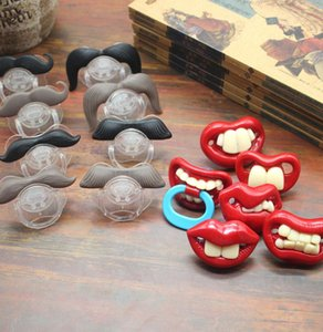 Funny Baby Pacifier Cute Mustache Pacifier For Babies and Toddlers comfort toys Nipples Pacifier 14 styles KKA8014