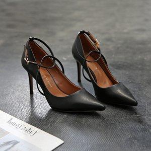 Attractive2020 Woman Beautiful Generation Bandage Single Shoe Sexy Joker Sharp High-heeled Fine With Women's Shoes 292039