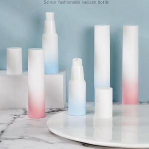 20 ml 30 ml 50 ml de gradiente de color blanco prensa llena de emulsión botella de plástico sin aire de pulverización