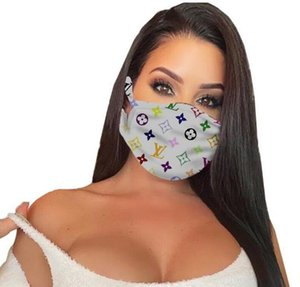 5Styles Childrens kids Washable face Mask women men Summer fashion Face Masks Letters printed luxury Mouth Cover masks Protective Mask