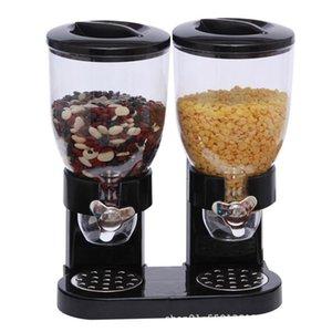 Dry Dispenser Botti Cereal Box ermetico contenitore rotondo grano Dispenser 2 della metropolitana di farina d'avena Distributore Cucina Contenitori