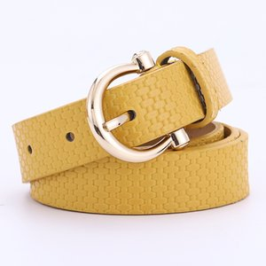 2020 Luxury Brown Black White Belts for Women Jeans PU Leather Female Wasit Belt Strap Alloy Buckle Pants Wasitband