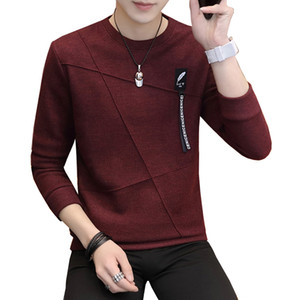 2020 New Autumn Fashion Casual O-Neck Mens Tracksuit Slim Fit Mens And Pullovers Men Pullover Men M-3XL
