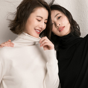 Hot Sale Johnature 2020 New Spring Turtleneck Pullover Slim Sweaters For Women Solid Color Knitted Slim Mori Girl Cloths Casual Sweaters