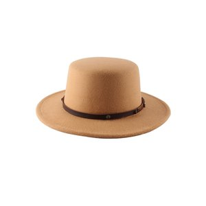 New Arrivals Time-Limited Big Sales Designers Hot Selling British Woolen Small Flat Top Hat Female Autumn and Winter Foreign Trade Dome Ja