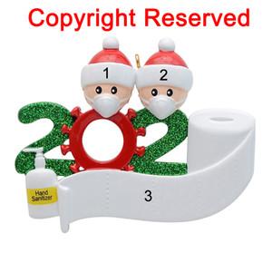 2020 cuarentena Partido Cumpleaños Decoración de Navidad el regalo personalizado del producto fuera de la Florida, la pandemia de -Social distanciamiento-Familia de 2