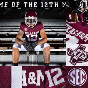 2020 Texas A&M Aggies Red New Uniforms Connor Blumrick Reinard Britz Zach Calzada James Foster Haynes King Kellen Mond Colton Taylor Jersey