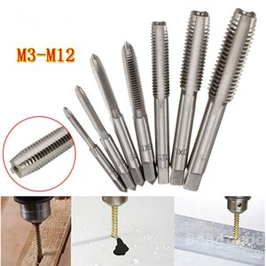 2pcs / lot M3 a M12 HSS Industrial Máquina espiral de punta recta estriado Métricas Cónicos e Tap rosca a la derecha del golpecito de tornillo