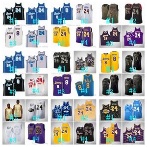 Benutzerdefinierte Männer Frauen Jugend Los AngelesLakersKobeBryant8.24YY.DavisNBA Mitchell Ness Basketball Jersey S-6XL