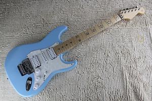 무료 배송 2019 최고의 품질 ST 일렉트릭 기타 스트라토 캐스터 사용자 지정 정비소 지판 오각형 이중 롤 기타