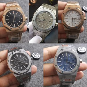 Audemars Piguet ap 6 Стиль Высокое качество Черный Sapphire Мужские часы 41мм автоматические движения Мода механические часы ROYAL OAK 15400 Наручные часы bTpV #