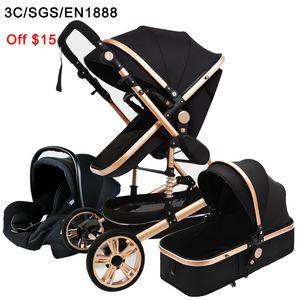 Luxury Stroller High Landview 3 In 1 Baby Stroller Portable Pushchair Baby Pram Comfort For Newborn
