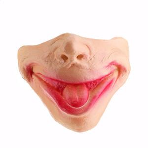 Mascarillas de silicona de Halloween de miedo Travesura Moda Máscaras divertido Cara humana envío libre de DHL HWE610