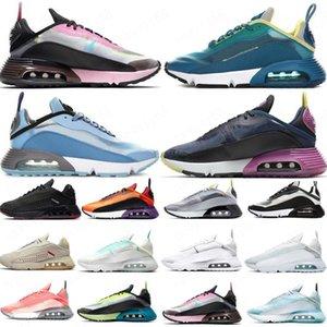 2090 zapatos corrientes de los hombres de las mujeres ser cierto Negro uva blanca Bred Brown Futurismo Vela Verde Amarillo Gris Lava Glow Light Blue Sport zapatillas de deporte