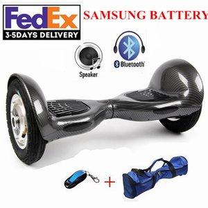 Elektro-Skateboard 10-Zoll-Scooter zwei Rädern Smart Balance Hoverboard mit LED-Bluetooth-Lautsprecher Romote Steuerung und Tasche Keine Steuer