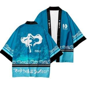 High-Q Unisex Anime Hatsune Miku wafuku Cloak T-Shirt Tee T Shirt 3D Vocaloid kimono Short Pants Cotton Casual T-Shirt TShirt 0924