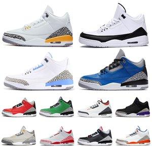 air jordan retro 3 aj jordans 3s TOP qualità di arrivo 2020 Jumpman UNC mens donne scarpe da basket Frammento Knicks Rivals Chicago formatori Designer scarpe tennis Taglia noi 13