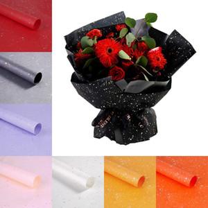 Florist Einwickelpapier 10pcs / lot Blumen-Blumenstrauß wasserdichte Verpackung Supplies Weihnachten Hochzeit Valentine Blumen-Blumenstrauß-Geschenk-Verpackung DHB1513