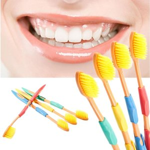 4pcs set Double Ultra Soft Bamboo Toothbrush Bamboo Charcoal Toothbrushes Fine Soft Antibacterial Nano Brush Oral Care For Adult