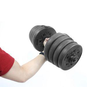 1 مجموعة PE الوزن الدمبل الرمل مملوء الدمبل استبدال الحديد غطاء لوحات فارغة قذيفة مجموعة لممارسة الجسم