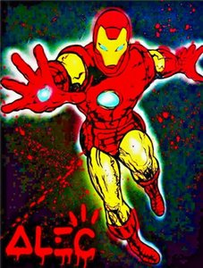 Alec Monopoly Iron Man Home Decor pintado a mano de la impresión de HD pintura al óleo sobre lienzo arte de la pared de la lona representa 200820