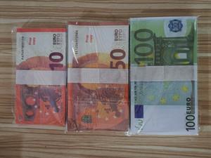 En iyi ve En Gerçekçi Prop Pretend Euro Dolar Pounds Kağıt Kopyalama Banknot Prop Bar Sahne Para 100 adet / paket 0002