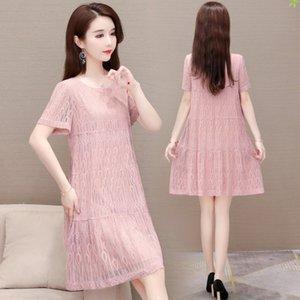 Yuanwei vente à chaud ALINE es manches courtes formelle col rond robe de mode 2020 Aline robe bW5d5