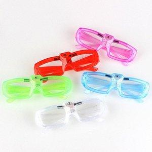 Прекрасный LED очки кадров люминесценция Батарейках переключатель 3 Велоспорт защитный механизм Велоспорт Режимы Прохладный фестиваль партии Ли O0Sp #