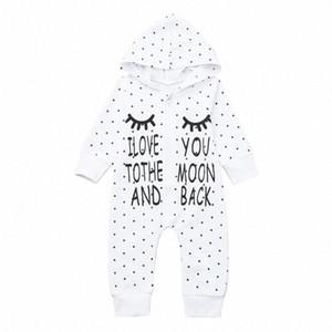 Infante appena nato della ragazza del neonato Lettera incappucciati pagliaccetto tuta Outfits Abbigliamento 2020 Abbigliamento New Born Babys Dall #
