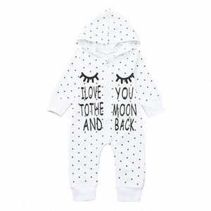 Neugeborenes Kind-Baby-Mädchen-Brief mit Kapuze Spielanzug-Overall Outfits Kleidung 2020 Kleidung New Born Baby Dall #