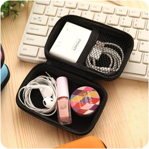 Mini Portable Earphone Storage Box Key Coin Purse Wholesale Cable Charger Storage Bag Shockproof Mini Bags Makeup Organizer TQQ BH0861