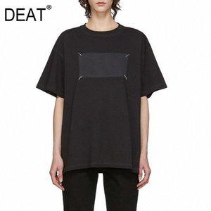 2020 col rond manches courtes T-shirt Pull en vrac Femme Top causales été nouvelle mode couleur gris à manches longues T-shirts Vintage T Sh # gynx