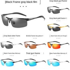 Neues Aluminium-Magnesium-polarisierte Sonne Sonne Fahrradfahrrad Herren-Halbrahmen Radsportbrille Sonnenbrille 8177 Sonnenbrille