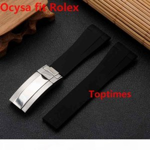 20mm Brand Rubber Strap For SUB GMTNew Soft Durable Waterproof Band Watch bands Watches Accessories Folding Clasp Buckle