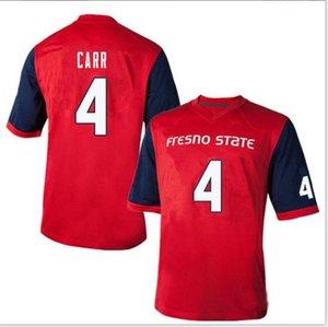 femmes hommes sur mesure jeunesse Fresno State Bulldogs # 4 Derek Carr Football Jersey taille s-5XL ou sur mesure tout nom ou le numéro jersey