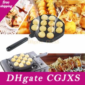 Nettoyer la santé en alliage d'aluminium takoyaki Pan 12 cupules takoyaki Maker Octopus petites boules de cuisson Pan Accueil Cuisson Outils de cuisson