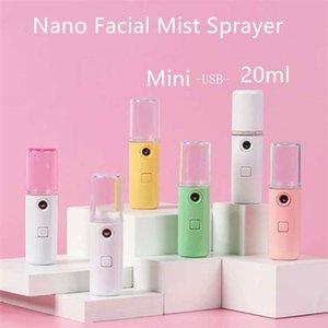 Drop shipping Mini USB rechargeable Facial Steamer Nano Facial Mist Pulvérisateur cool visage Vaporiser vapeur Voyage Hydratante Pulvérisateur