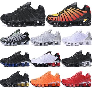 with free socks NEW TL Running Shoes Black Gold Clay Orange Triple Silver Sunrise University Red White mens trainers sports sneakers 40-46
