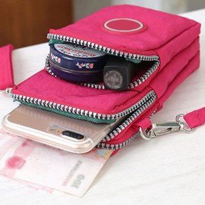 Universal Wallet Bag Climbing Portable Case Mobile Phone Shoulder Bag Holster Cross Body Handbag Wallet Newest xt7E#