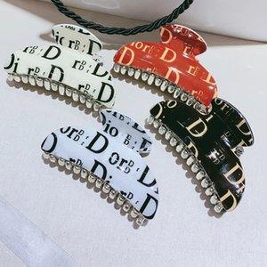 Diseñador multistyle Carta garras del pelo de las mujeres de acrílico Carta abrazadera del pelo accesorios del pelo de alta calidad Epacket envío