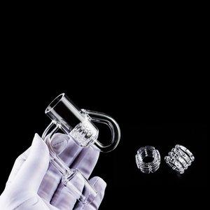 90 Degrees Domeless Quartz Banger with Diamond Knot Loop Bubbler Carb Cap Quartz Banger nail 10mm 14mm 18mm For Glass Bong Dab Rig