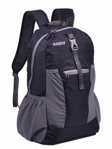 MIER leggero pieghevole Daypack dello zaino Impermeabile Handy Sci usura atletica Outdoor Apparel viaggio zaino 30L nero Xray #