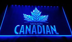 LS994-g-Molson Canadian cerveza bar pub club de señales 3D LED luz de neón de la decoración de Dropshipping de envío libre al por mayor 8 colores para elegir